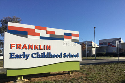 Front signage of Franklin Early Childhood School